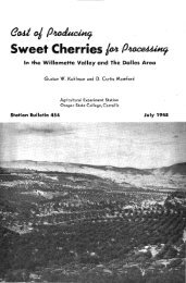 Cost of producing sweet cherries for processing in