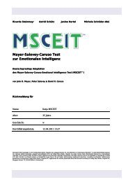 Mayer-Salovey-Caruso Test zur Emotionalen Intelligenz - Testzentrale