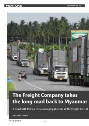 The Freight Company takes the long road back to Myanmar A word ...