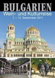 Wein- und Kulturreise - bei Terra Travel & Consulting AG