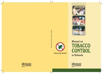 Manual on Tobacco Control in Schools