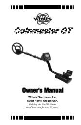 Coinmaster GT Instruction Manual.pdf - White's Metal Detectors