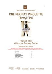 ONE PERFECT PIROUETTE Sherryl Clark - University of ...