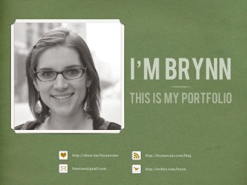 this is my portfolio - Brynn Evans