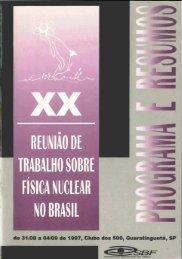 REINA() DE TRABALHO SOBRE FiSICA NUCLEAR NO BRASIL