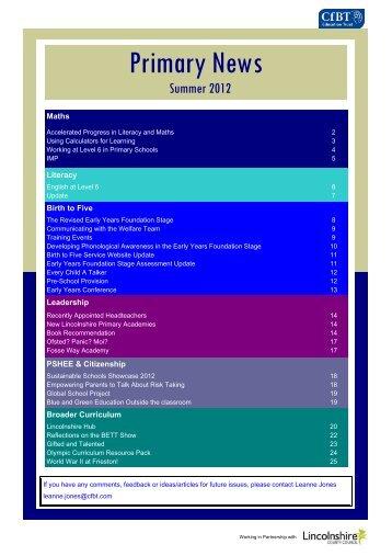 Summer 2012 PNM fINAL VERSION - CfBT