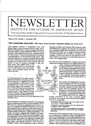 Fall 1987 Newsletter - CUNY