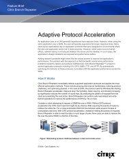 Citrix Branch Repeater Adaptive Protocol Acceleration