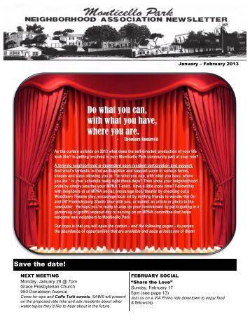 January-February 2013 Newsletter - Monticello Park Neighborhood ...