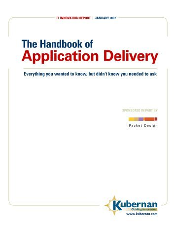 The Handbook of Application Delivery - TelecomTest Solutions
