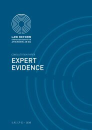 Consultation Paper on Expert Evidence - Law Reform Commission