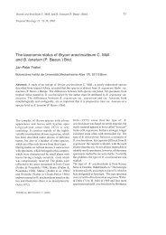 The taxonomic status of Bryum arachnoideum C ... - Tropical Bryology