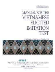 Manual for the Vietnamese elicited imitation test - ScholarSpace