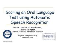 Scoring an Oral Language Test using Automatic Speech Recognition