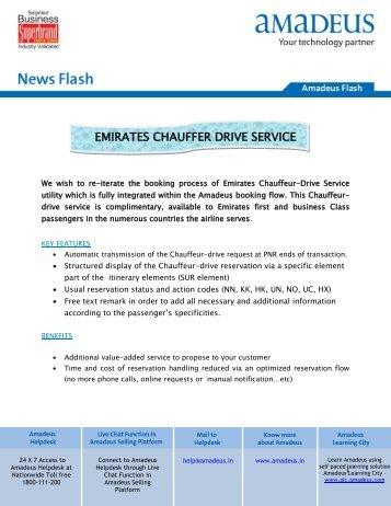 EMIRATES CHAUFFER DRIVE SERVICE - Amadeus