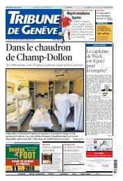 Dans le chaudron de Champ-Dollon - Etat de Genève