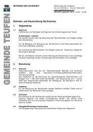 Betriebs- und Hausordnung Hechtremise 1. Allgemeines 2 ... - Teufen