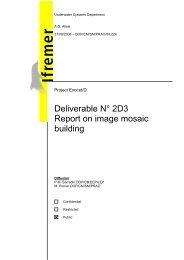 2D image mosaic building 2D3 - Ifremer