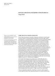 KENTSEL MEKÂNDA DEĞİŞİMİN YÖNETİLMESİ (1) - Journal of the ...