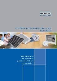 systèmes de chauffage par le sol SCHÜTZ - Schutz GmbH & Co. KGaA