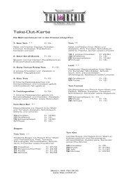 Take-Out-Karte deutsch - Restaurant Thai Orchid Meilen