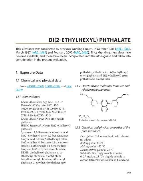 di(2-ethylhexyl) phthalate - IARC Monographs on the