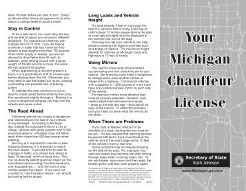 Your Michigan Chauffeur License - TS-025 - State of Michigan