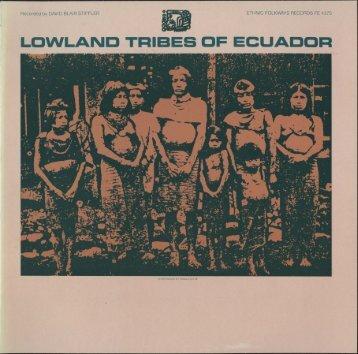 lowland tribes of ecuador - Smithsonian Institution