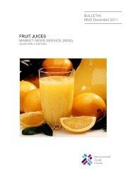 Fruit juices market news service (mns)