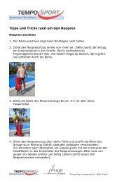 Tipps und Tricks Neopren - Tempo-Sport AG