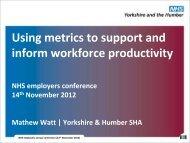 Mathew Watt - NHS Employers