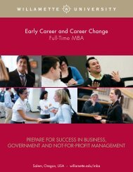Early Career and Career Change Full-Time MBA - Willamette ...