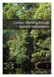 Carbon offsetting through avoided deforestation