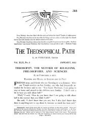 theosophy, ti-ie mother of religions, philosophies, and sciences