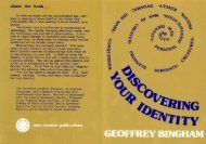 Discovering Your Identity - New Creation Teaching Ministry