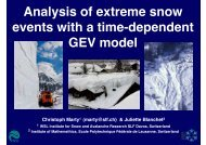 Analysis of extreme snow events with a time-dependent ... - CCES