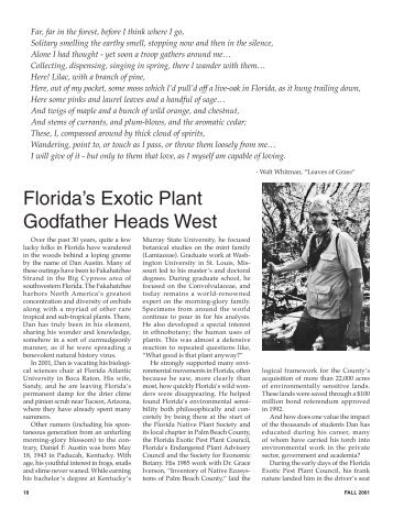 fall 2001 - Southeast Exotic Pest Plant Council