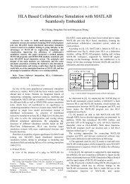HLA Based Collaborative Simulation with MATLAB ... - ijmlc