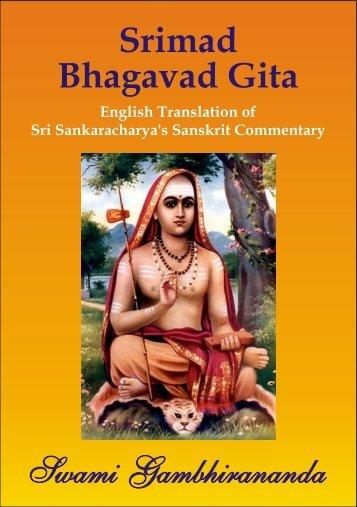 Bhagavad Gita Bhasya (Gambhirananada)