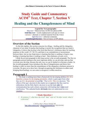 ACIM Web Resources - Spiritual Guidance