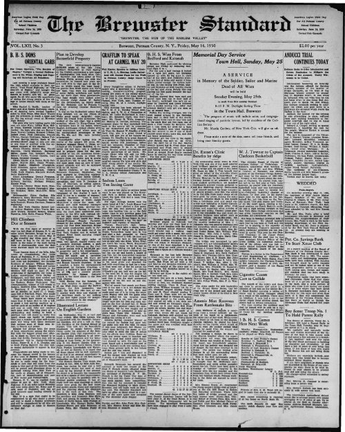 1930-05-16 - Northern New York Historical Newspapers
