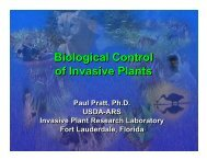 Biological Control of Invasive Plants Biological Control of Invasive ...