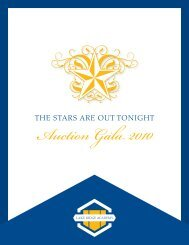 Auction Gala - Lake Ridge Academy