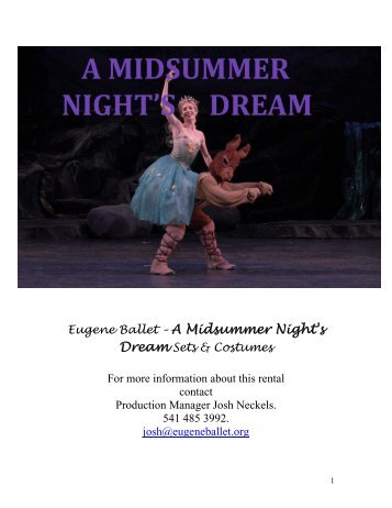 A Midsummer Night's Dream - Eugene Ballet Company