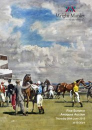 Fine Summer Antiques Auction - Wright Manley