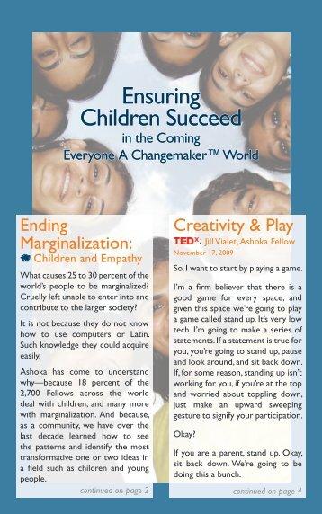 Ensuring Children Succeed - Ashoka