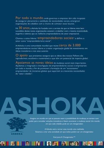 folheto de apresentação - Ashoka - Portugal