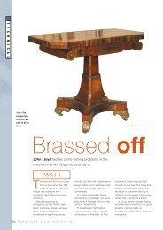 Brassed off - John Lloyd Fine Furniture