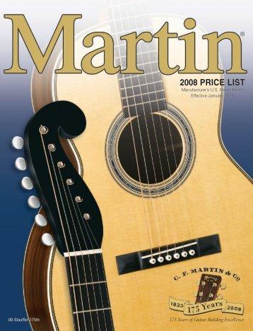 2008 martin guitar pricelist - Jedistar