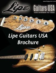 Lipe Guitars USA Brochure - NAMM